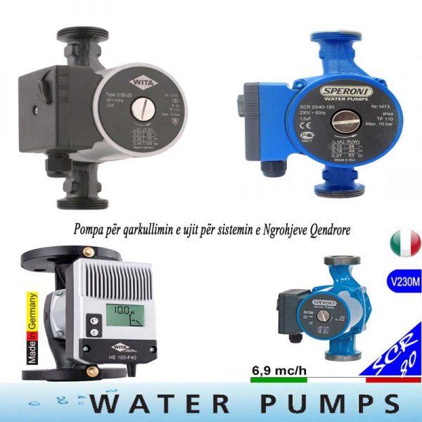 Pompa për qarkullimin e ujit për Ngrohje Qendrore