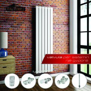Valvula të sistemin një gypor dhe dy gypor për sistemin e radiatorëve.